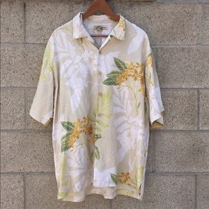 Tommy Bahama L silk floral shirt